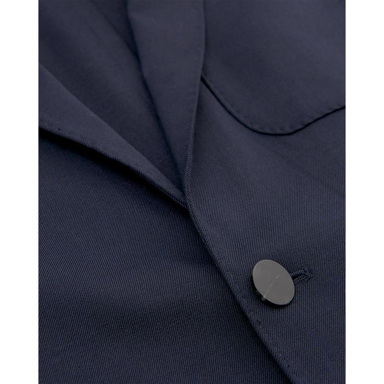 Gant Erkek Lacivert Slim Washable Wool Blazer Ceket