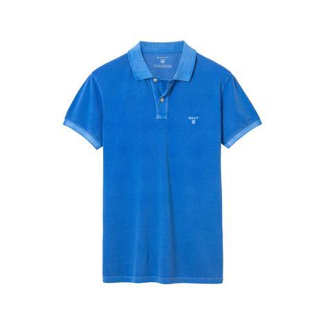 Erkek Vintage Yıkamalı Mavi Regular Pike Polo