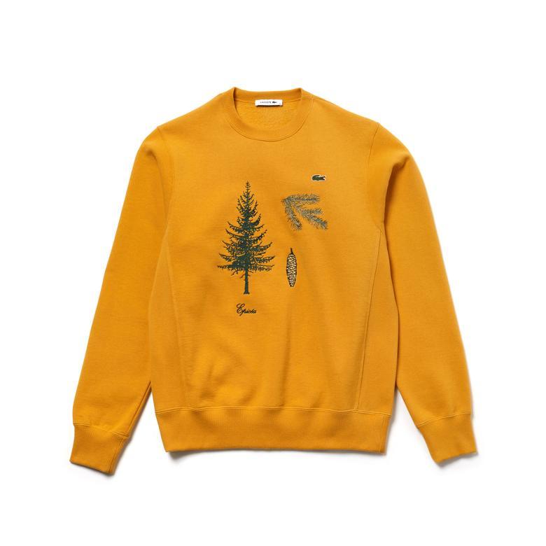 Lacoste Show Unisex Sarı Sweatshirt Fashion