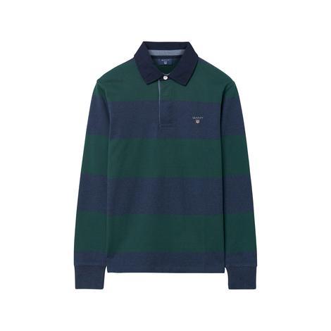 Erkek Çocuk Yeşil Lacivert Çizgili Sweatshirt