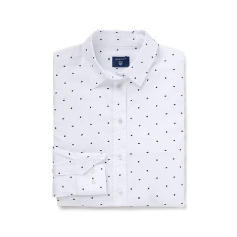 Gant Kadın Beyaz Oxford Puantiyeli Regular Fit Gömlek