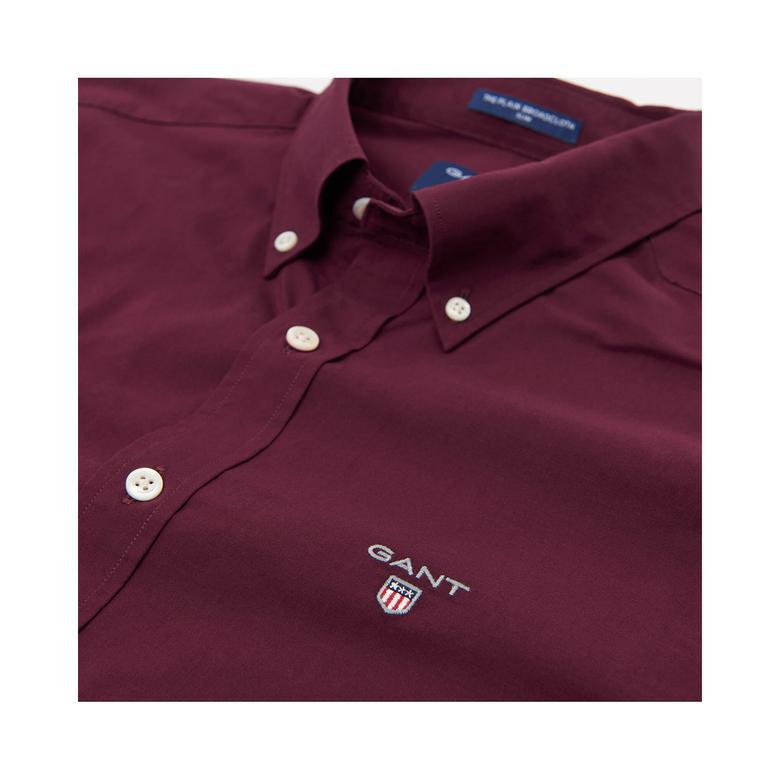 Gant Erkek Bordo Slim Broadcloth Gömlek