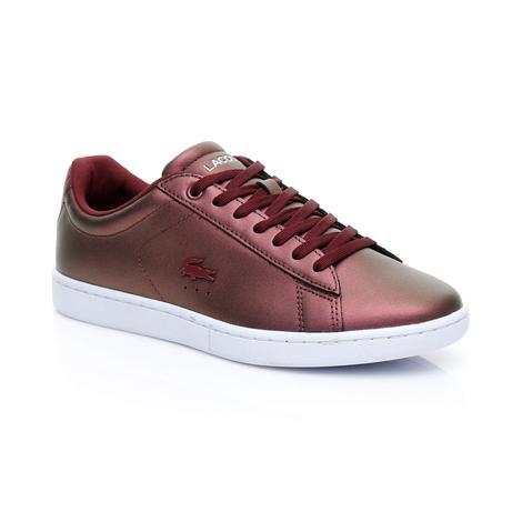 Lacoste Kadın Carnaby Evo 318 5 Bordo Sneaker