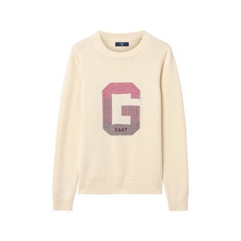 Gant Kadın G Logo Bej Triko