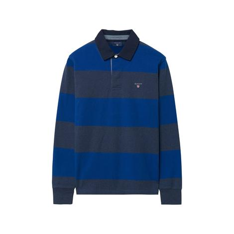 Erkek Çocuk Mavi Gri Çizgili Sweatshirt