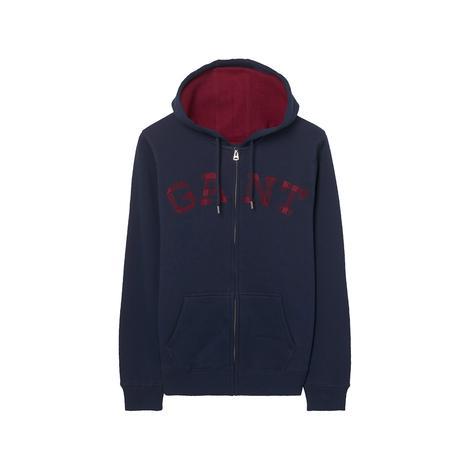 Erkek Lacivert Contrast Backside Sweatshirt