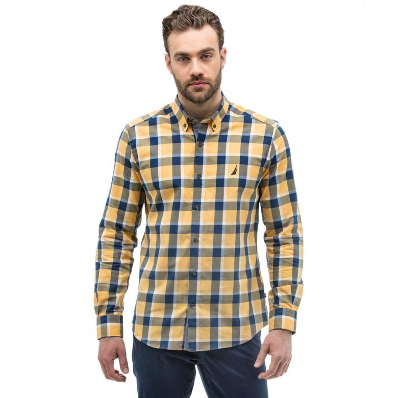 Nautica Erkek Slim Fit Sarı Gömlek