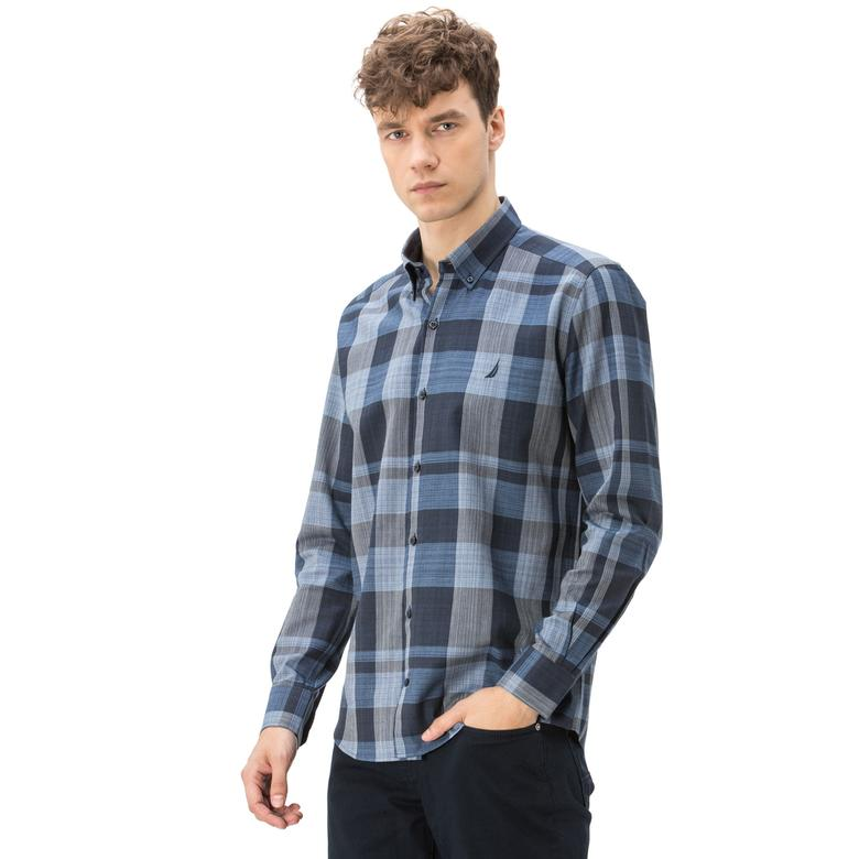 Nautica Erkek Slim Fit Lacivert Gömlek