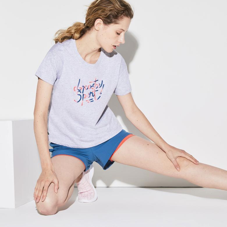 Lacoste Sport Kadın Gri T-Shirt