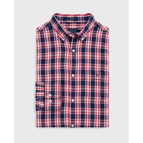 Gant Erkek Kırmızı Regular Fit Windblown Oxford Plaid Gömlek