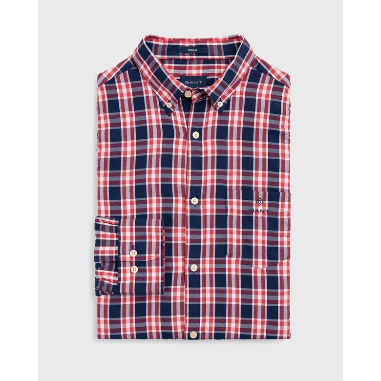 Gant Erkek Kırmızı Regular Fit Oxford Gömlek