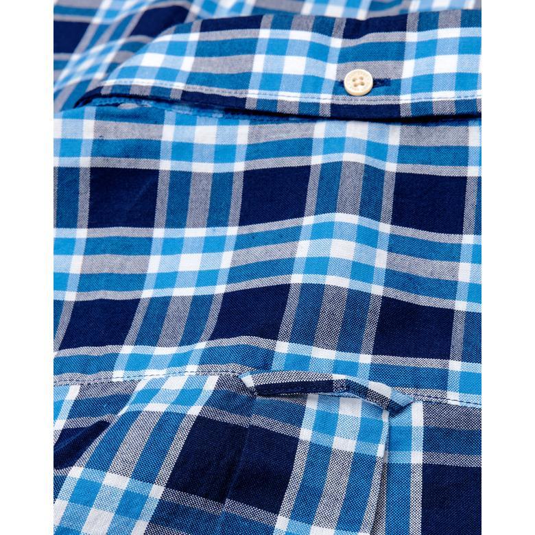 Gant Erkek Mavi Regular Fit Windblown Oxford Plaid Gömlek
