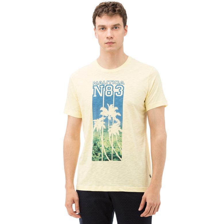 Nautica Erkek Sarı Bisiklet Yaka Kısa Kollu Slim Fit T-Shirt