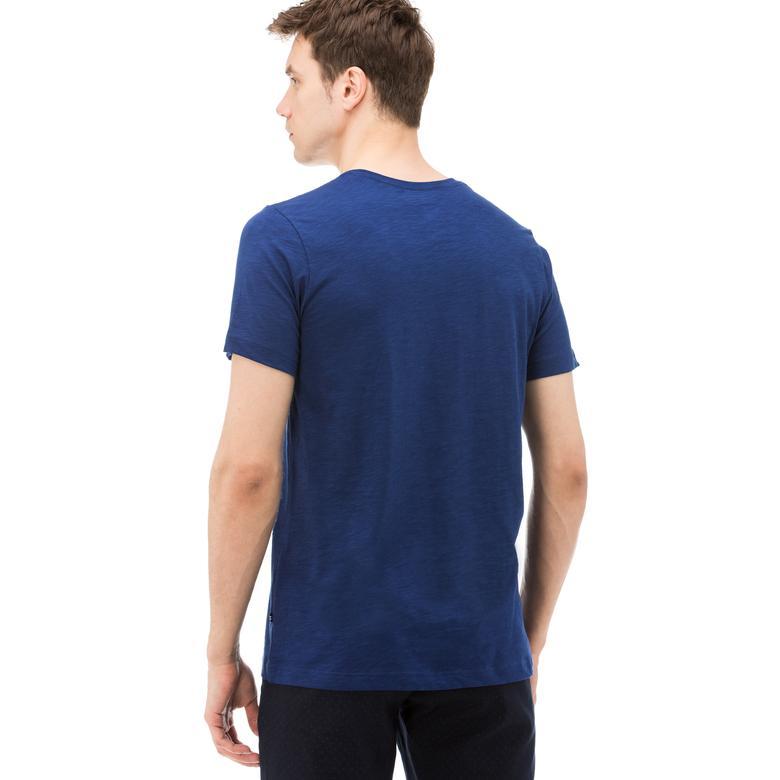 Nautica Erkek Mavi Kısa Kollu Slim Fit T-Shirt