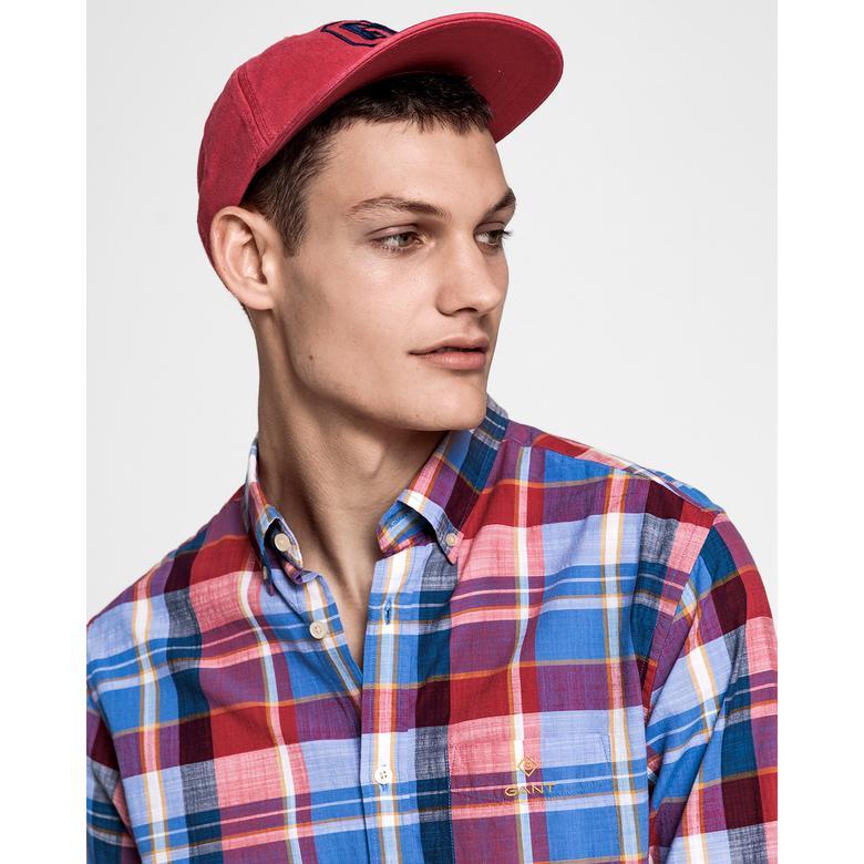 Gant Erkek Kırmızı Kareli Regular Fit Madras Colorful Gömlek