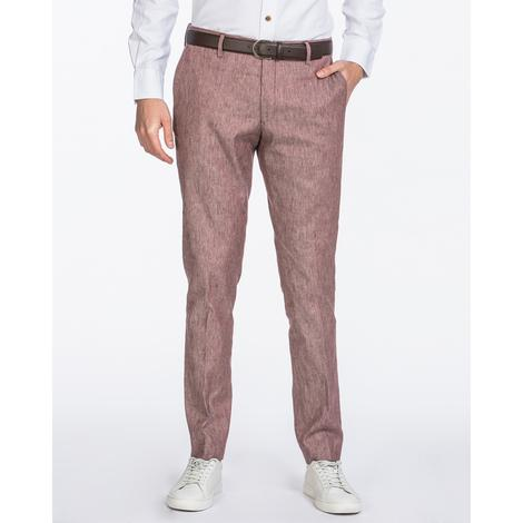 Gant Erkek Bordo Slim Fit Keten Pantolon