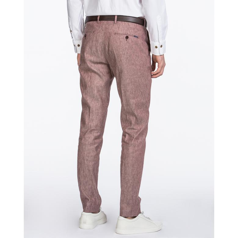 Gant Erkek Kırmızı Slim Fit Keten Pantolon