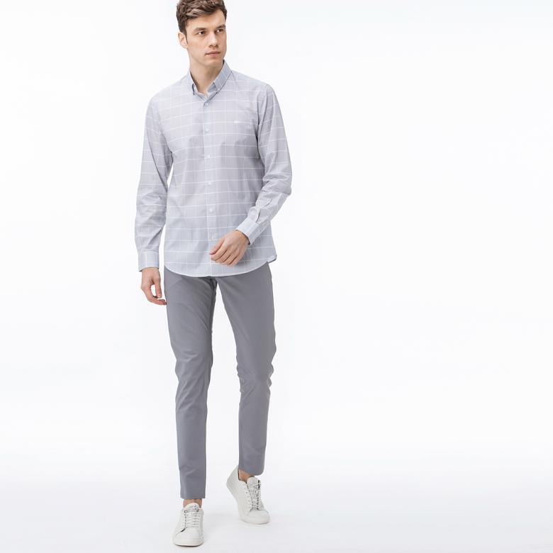 Lacoste Erkek Streç Gri Pantolon