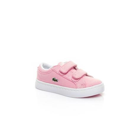 Lacoste Straightset Lace 117 3 Çocuk Pembe Sneaker