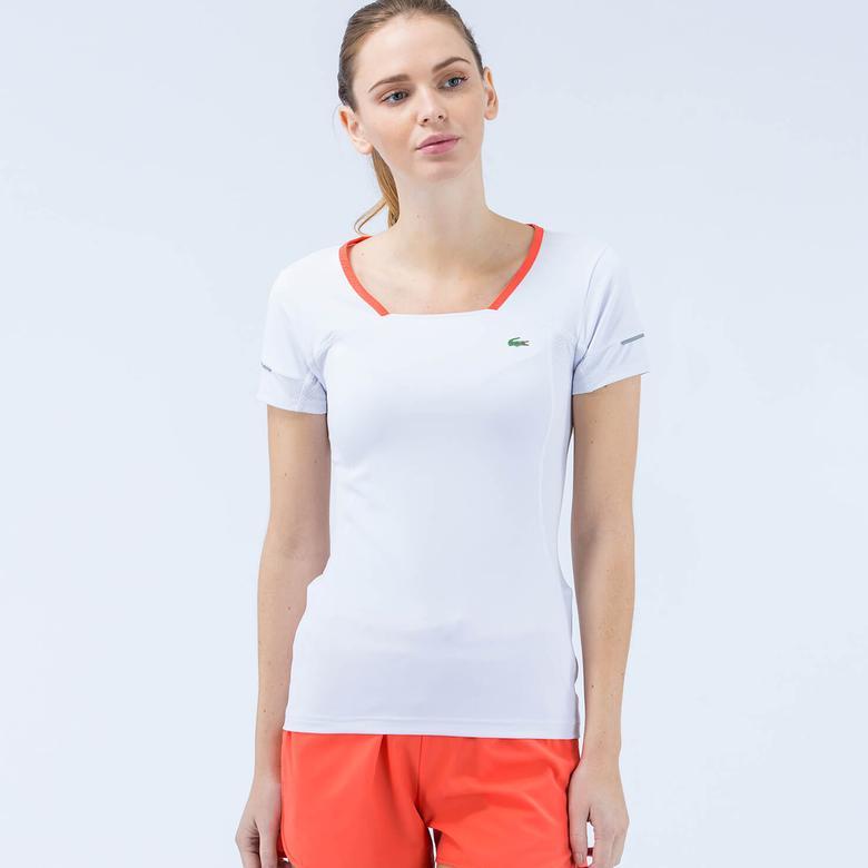 Lacoste Kadın Beyaz Tshirt