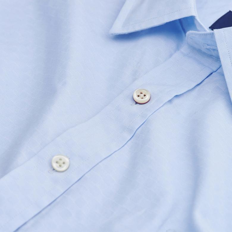 Gant Erkek Mavi Slim Fit Gömlek