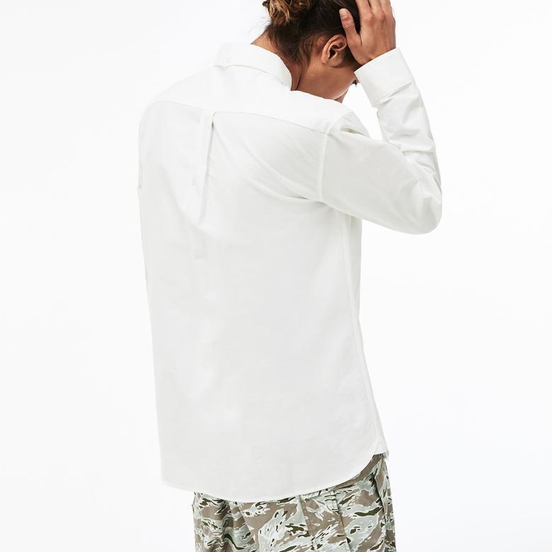 Lacoste Erkek Skinny Fit Beyaz Gömlek