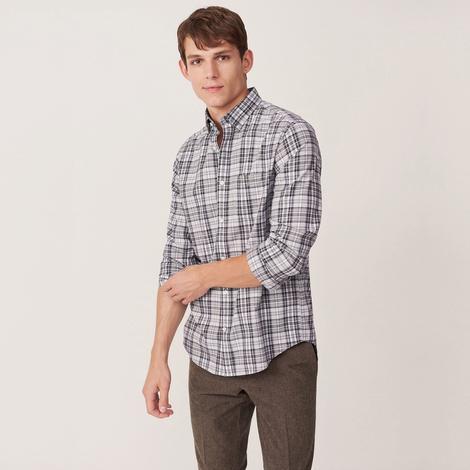 Gant Erkek Gri Regular Fit Gömlek