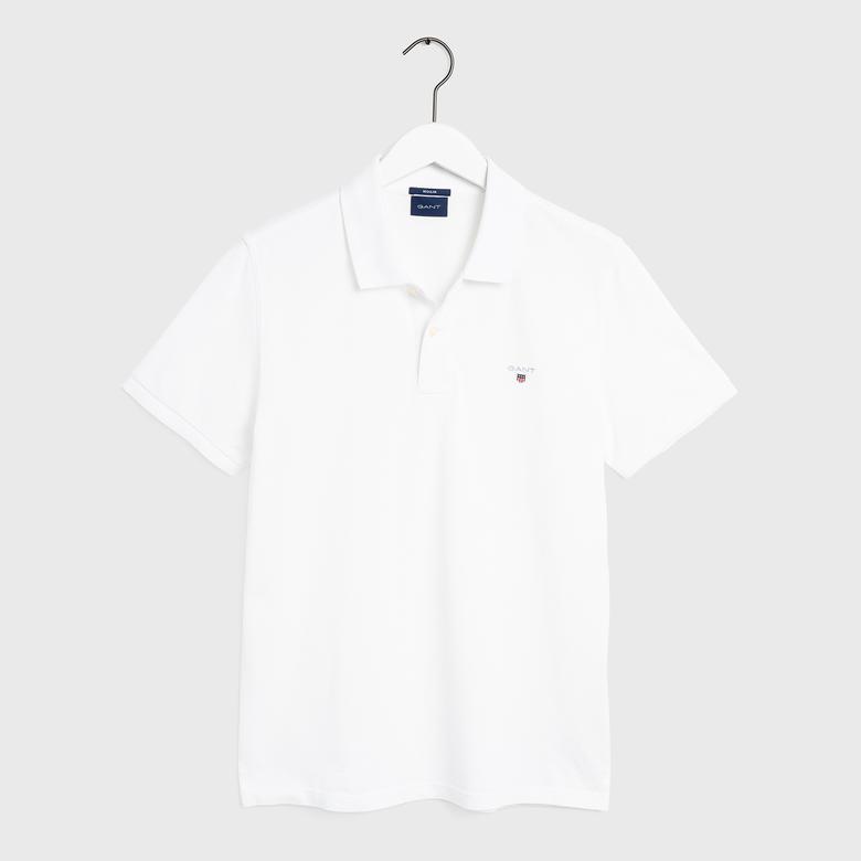 Gant Erkek Beyaz Regular Fit Pique Polo