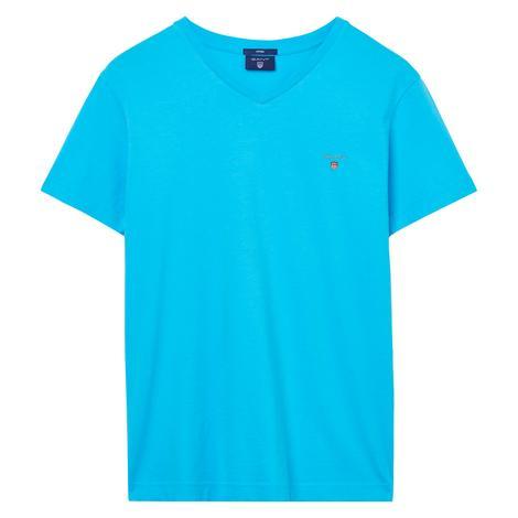 Gant Erkek Mavi Fitted T-Shirt