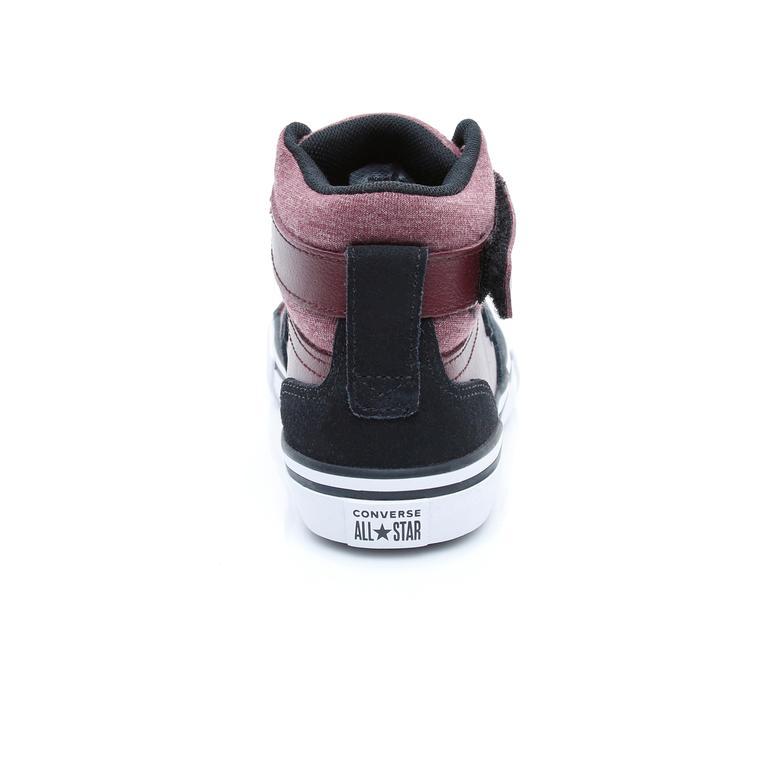 Converse Pro Blaze Strap Mid Çocuk Bordo Sneaker