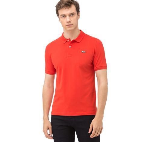Lacoste L!ve Erkek Slim Fit Kırmızı Polo