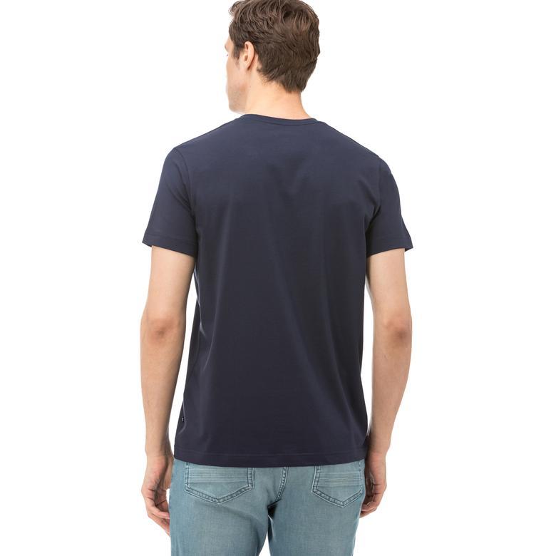 Nautica Erkek Lacivert Kısa Kollu V Yaka Slim Fit T-Shirt