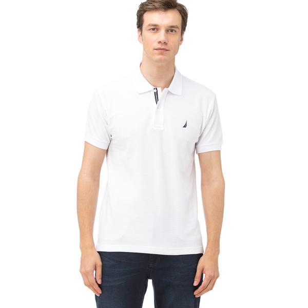 Nautica Erkek Beyaz Kısa Kollu Polo