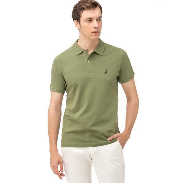 Nautica Erkek Yeşil Kısa Kollu Slim Fit Polo