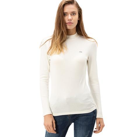 Lacoste Kadın Beyaz uzun Kollu T-Shirt