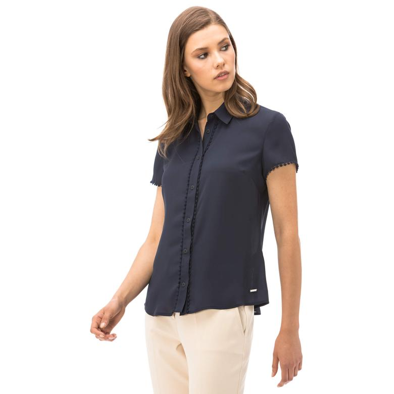 Nautica Kadın Lacivert Klasik Fit  Gömlek