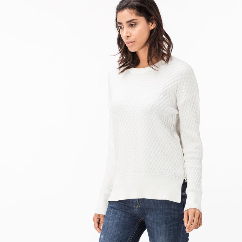 Lacoste Kadın Ekru Sweatshirt