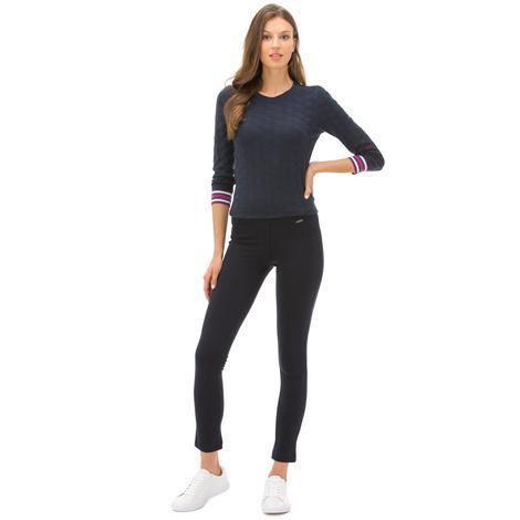 Nautica Kadın Klasik Fit Lacivert Pantolon