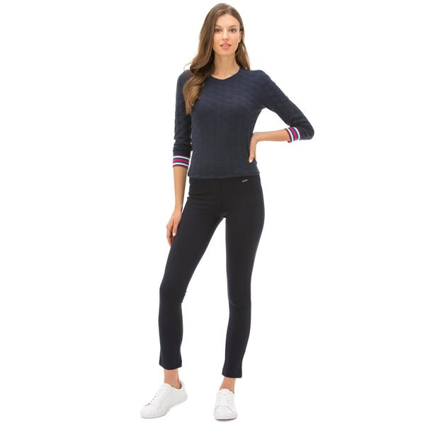 Nautica Kadın Classic Fit Lacivert Pantolon