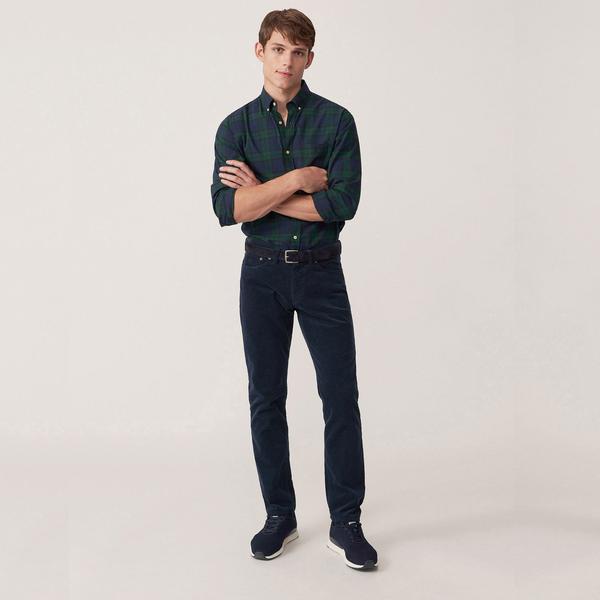 Erkek Slim Cord Lacivert Pantolon