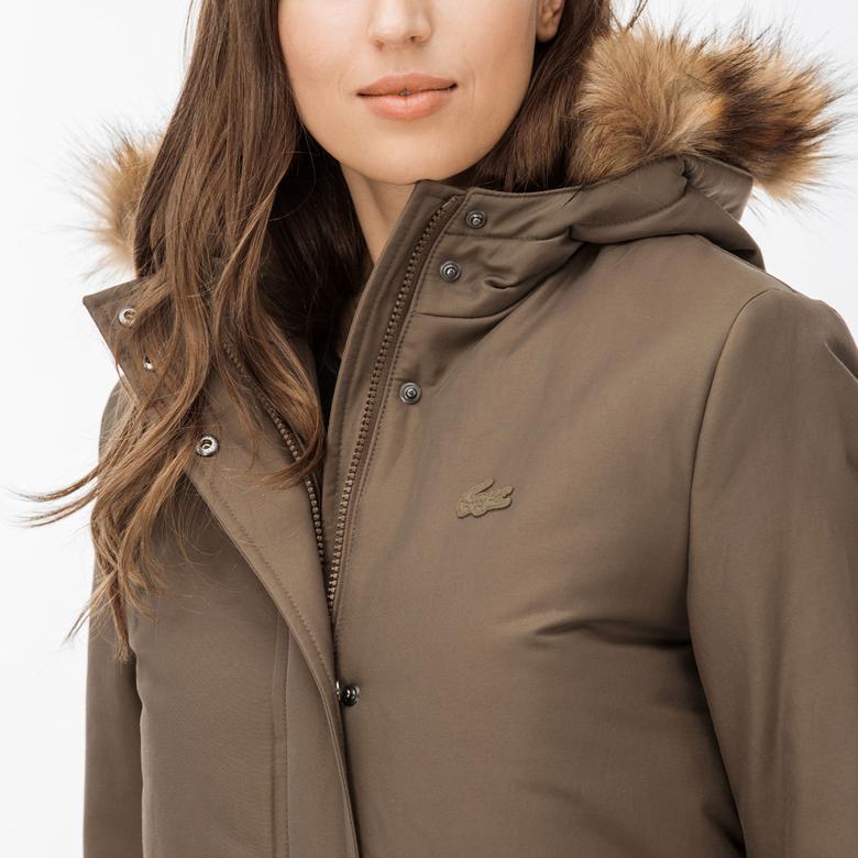 Lacoste Kadın Kahverengi Mont