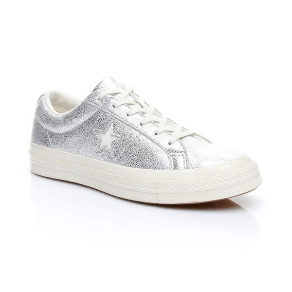 Converse One Star Kadın Gümüş Sneaker