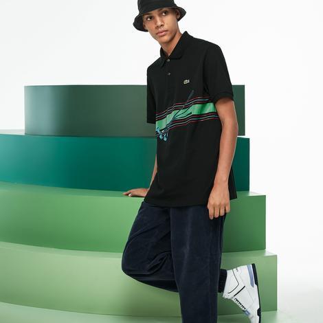 Lacoste Fashion Show Erkek Regular Fit Siyah Polo