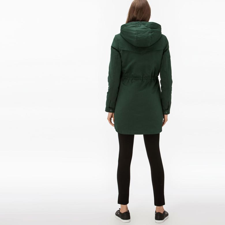 Lacoste Kadın İçi Kürklü 2'li Yeşil Uzun Mont