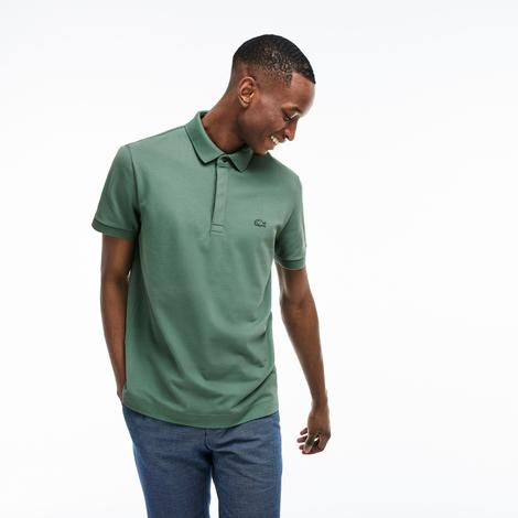 Lacoste Erkek Regular Fit Haki Paris Kısa Kollu Polo