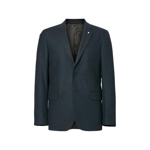 Gant Erkek Lacivert Herringbone Blazer Ceket
