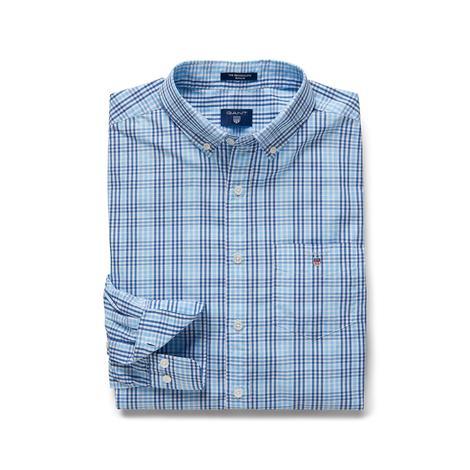 Gant Erkek Regular Fit Mavi Kareli Gömlek