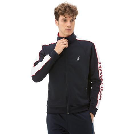 Nautica Erkek Fermuarlı Lacivert Sweatshirt