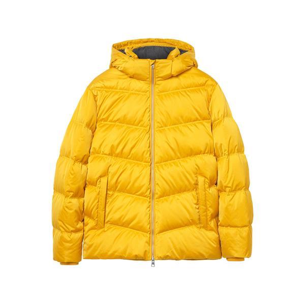 Gant Erkek Kapüşonlu Sarı Puffer Mont