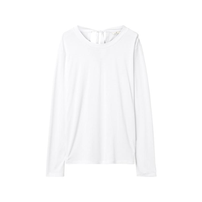 Gant Kadın Beyaz Back Not Ls Top Bluz